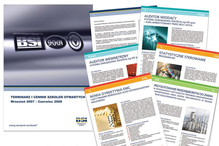 Folder szkoleniowy BSI na zlecenie PAQ