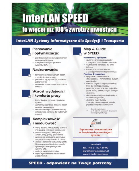 Interlan - ulotka SPEED