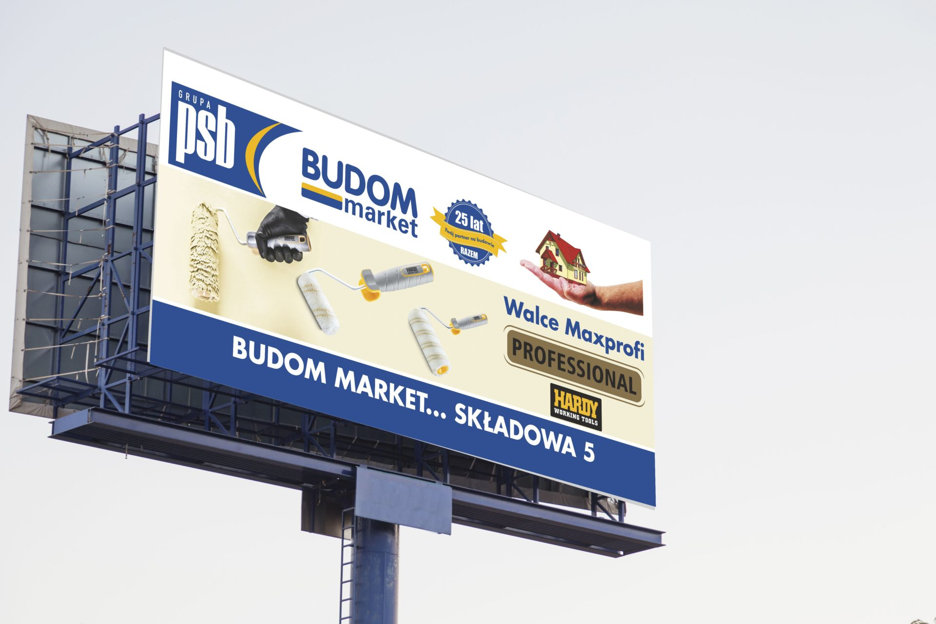 Bilboard Budom Market - Kaem